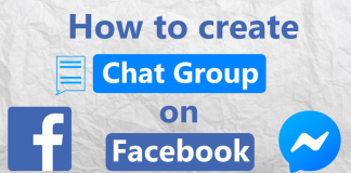 Create chat group Facebook Messenger