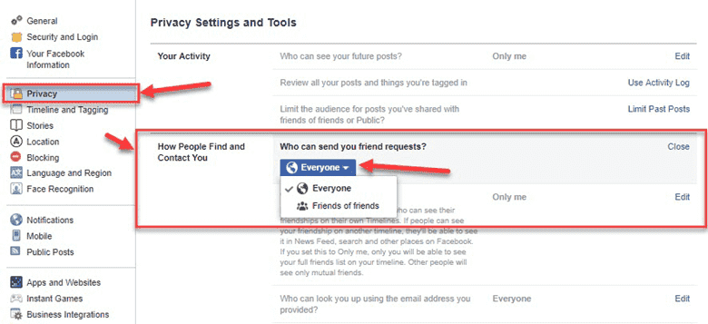 Limit Your Friend Request for Profile Privacy