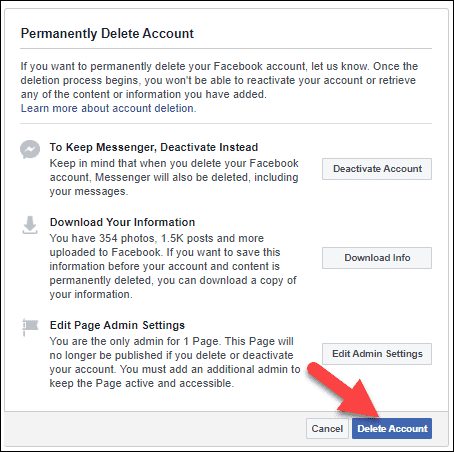 Delete Permanently Your Facebook Account