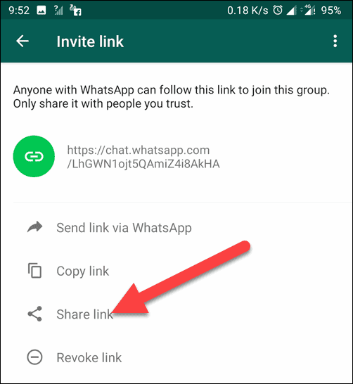 Next tap on Share Link to Increase Add limit