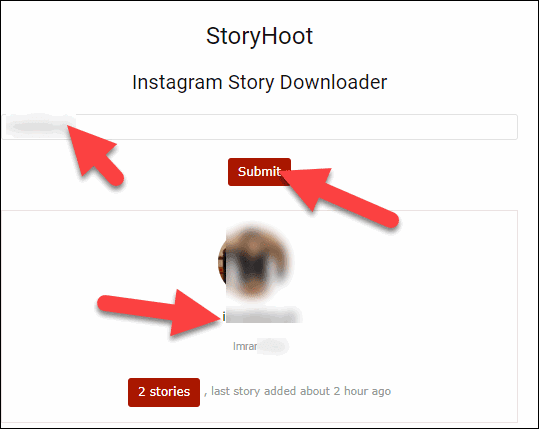 Open StoryHoot and Type username and Submit