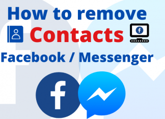 Remove contacts from Messenger Facebook