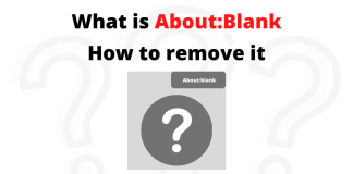 About Blank how to remove