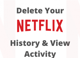 Delete NETFLIX history and view activity