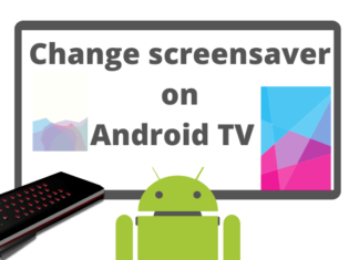 Change screensaver Android TV