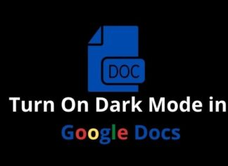 How to turn on Dark Mode in Google Docs