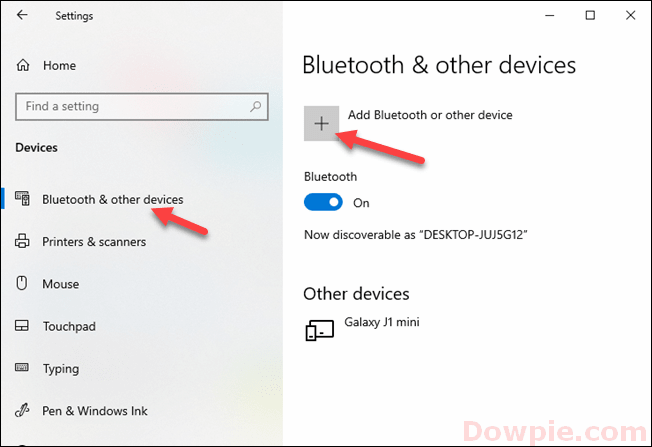 Add Bluetooth or Other Device on Your PC Settings