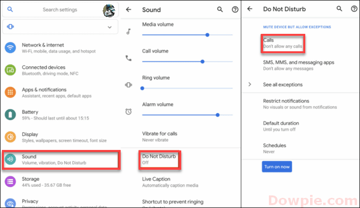 Block Incoming calls with Do Not Disturb on Android