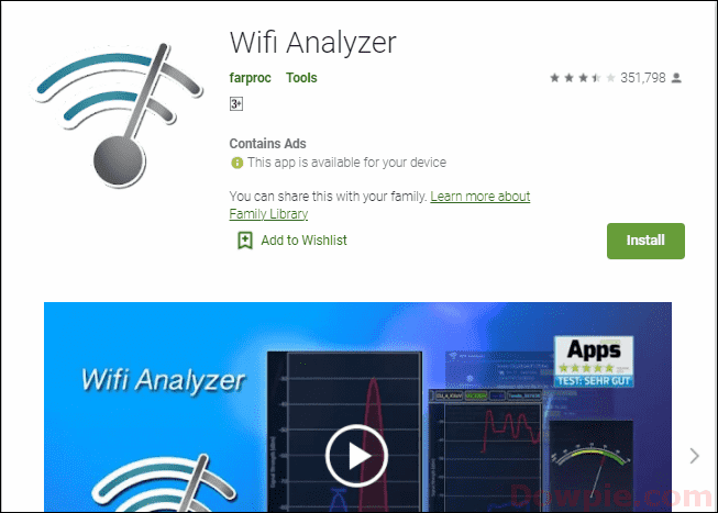 WiFi Analyzer App for Android devices
