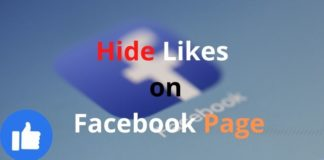 How to Hide Likes on Facebook Page