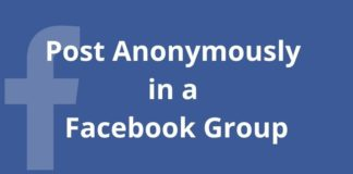 How to Post Anonymously in a Facebook Group
