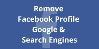 How to Remove your Facebook profile from Google, etc. search engines